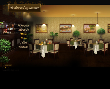 Restaurant, Dynamic Video Gallery Admin flash template