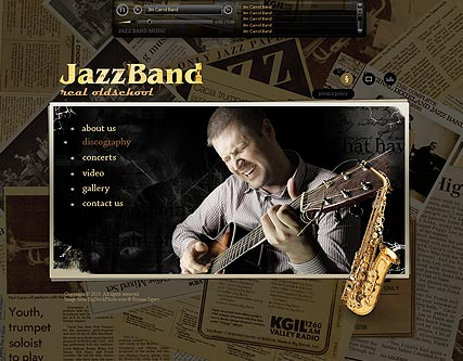 Name: JazzBand - Type: VideoAdmin flash templates - Item number:300110883
