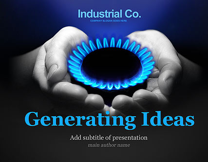 Name: Gas Company - Type: Powerpoint template - Item number:300110895