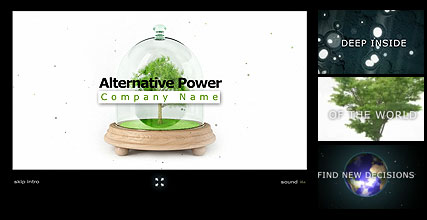Name: Alternative Power - Type: Flash intro template - Item number:300110897