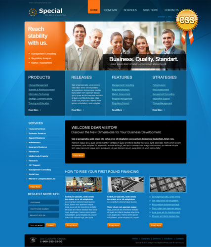 Special Solutions, HTML template