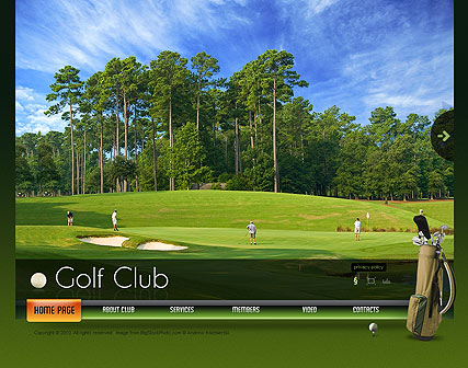 Name: Golf Club - Type: VideoAdmin flash templates - Item number:300110912
