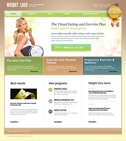 Weight Loss, HTML template