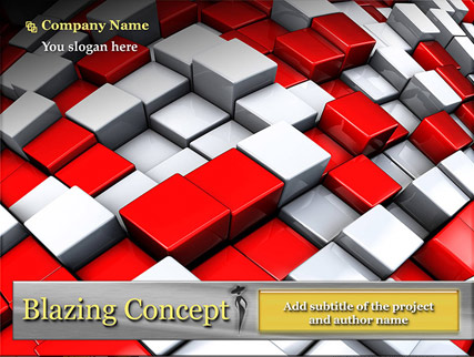 Name: Blazing concept - Type: Powerpoint template - Item number:300110925