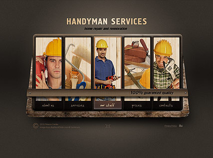 Handyman Service, Easy flash template