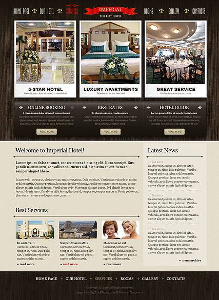 Best Hotel, Website template