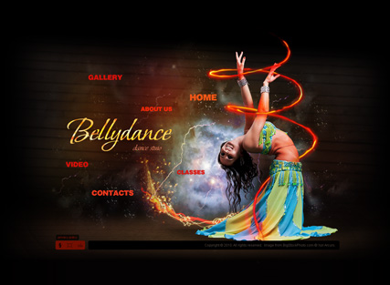 Bellydance, Dynamic Video Gallery Admin flash template