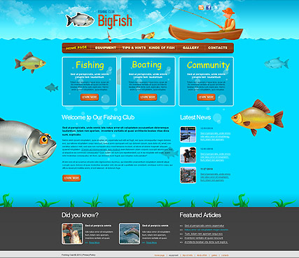 Name: Fishing - Type: Website template - Item number:300110934