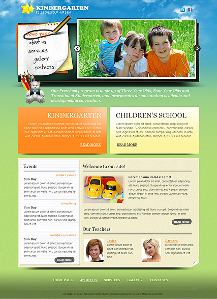 Kindergarten, Website template