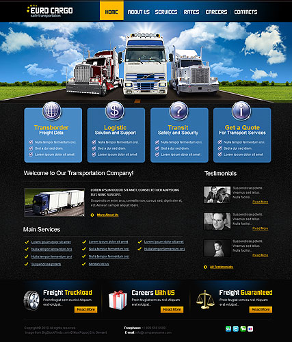 Transportation Website Template ID - Information website template