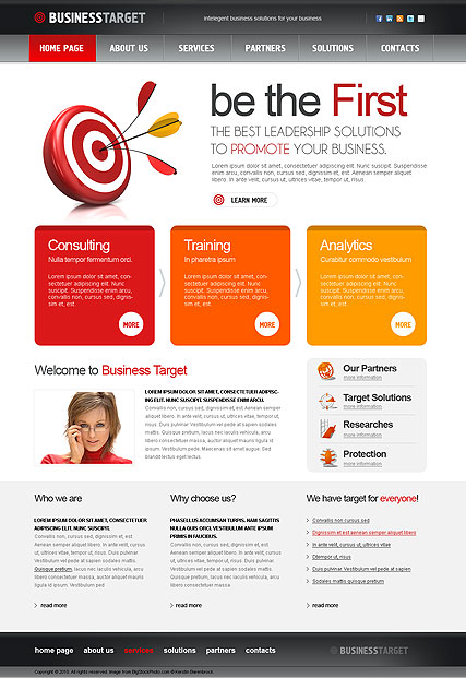 Business Target, HTML template