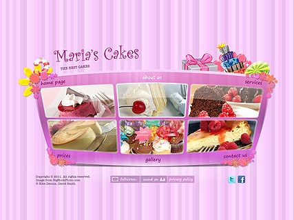 Best Cakes, Easy flash template