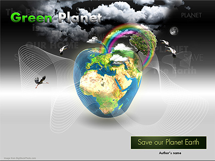 Green Planet, Microsoft PowerPoint template