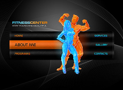 Fitness Center, Easy flash template