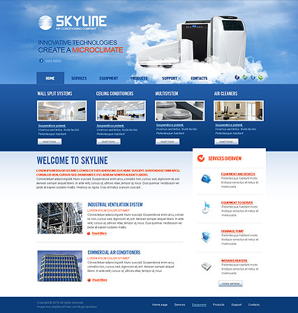 Air Conditioning, HTML template