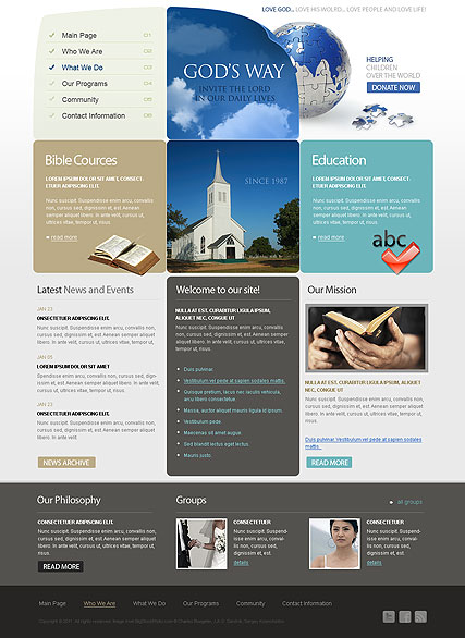 Church, HTML template