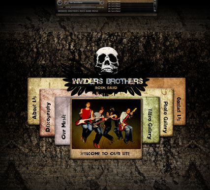 Rock Band, Dynamic Video Gallery Admin flash template