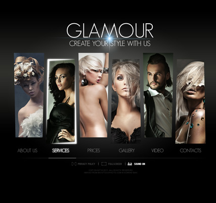 Hair Saloon, Dynamic Video Gallery Admin flash template