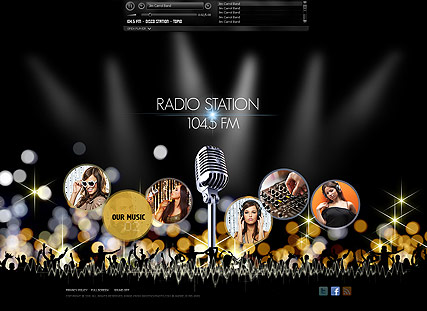 Radio Station, Easy flash template