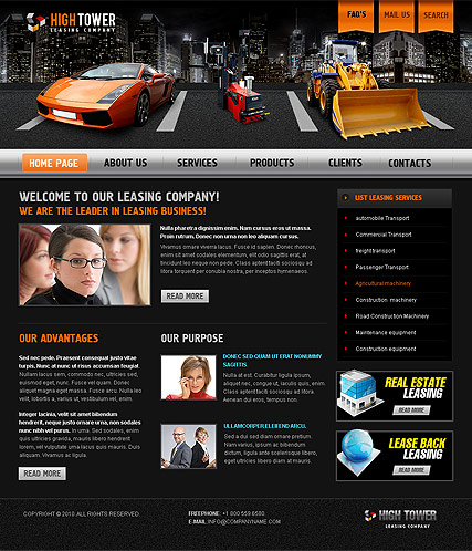 Name: Leasing - Type: Website template - Item number:300111009