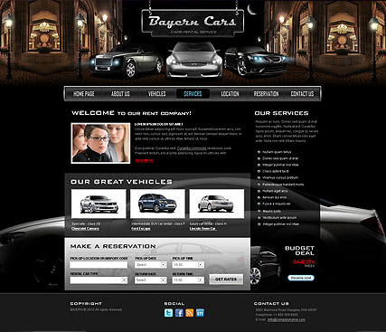Name: Car Rental - Type: Website template - Item number:300111030
