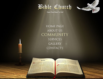 Bible Church, Easy flash template