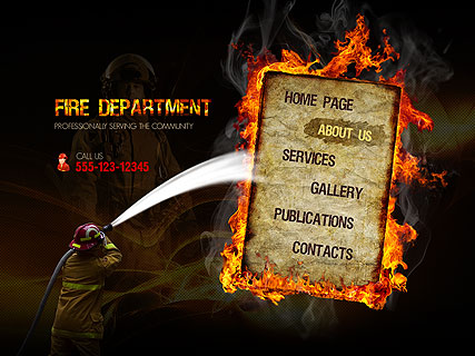 Fire Department, Easy flash template