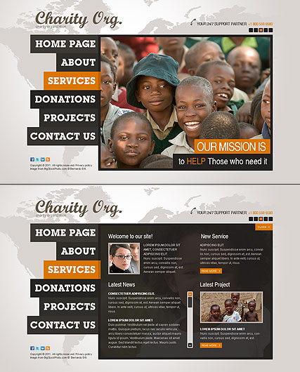 Charity Center, HTML5 template