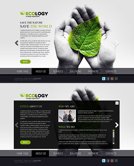 Ecology, HTML5 template