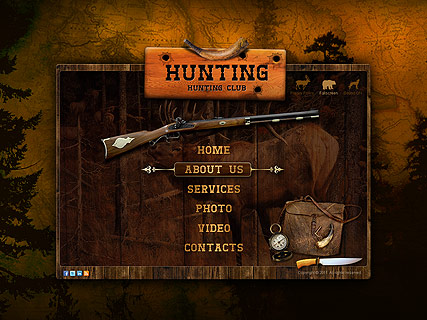 Hunting club, Dynamic Video Gallery Admin flash template