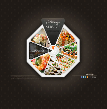 Catering service, Dynamic Video Gallery Admin flash template