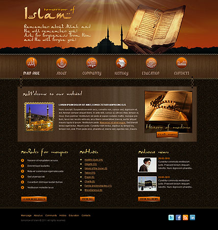 Name: Islam - Type: Website template - Item number:300111060
