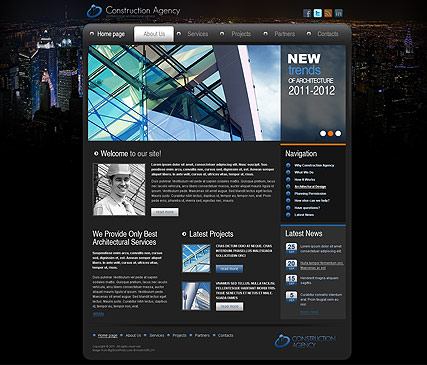 Construction, HTML template