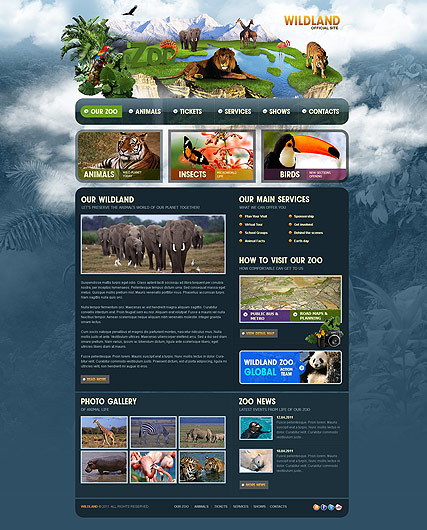 ZOO, HTML template