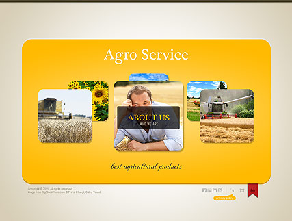 Agriculture, Easy flash template