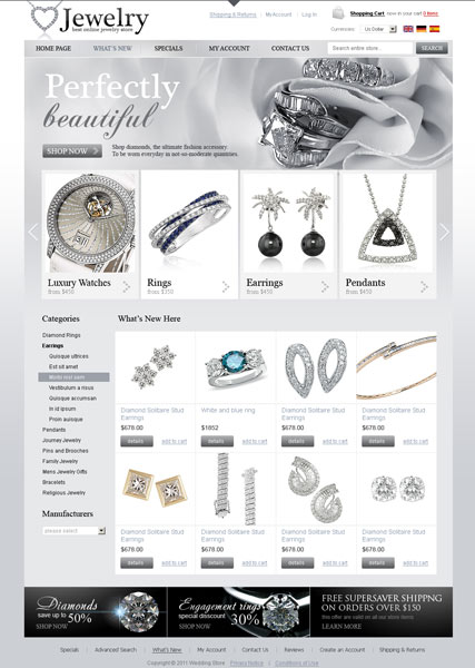 Jewelry store 2.3ver, osCommerce template