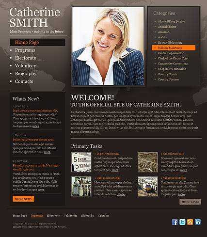 Political, HTML template