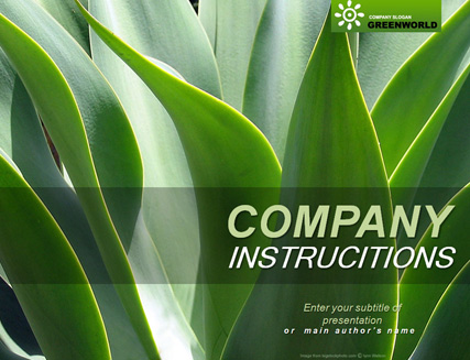 Name: GreenWorld - Type: Powerpoint template - Item number:300111091