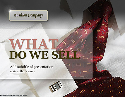 Name: Fashion Company - Type: Powerpoint template - Item number:300111103