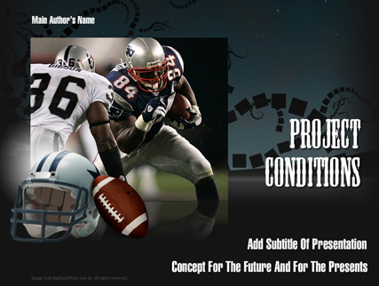 American Football, Microsoft PowerPoint template