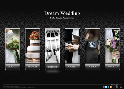 Dream Wedding, Dynamic Photo and Video Gallery Admin flash template