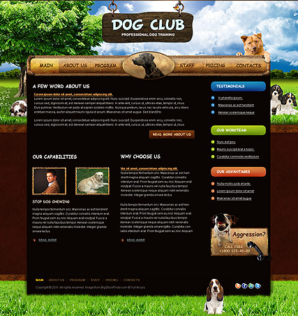 Dog Training, HTML template