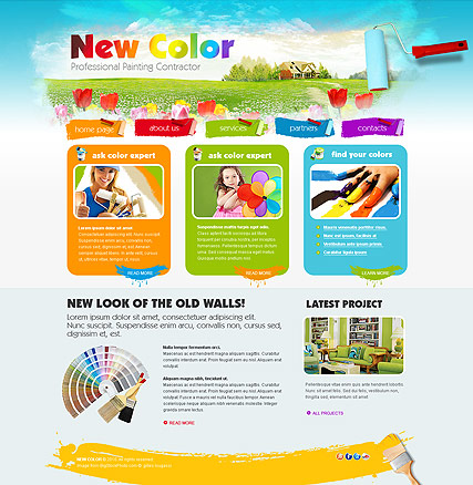 Painting, HTML template