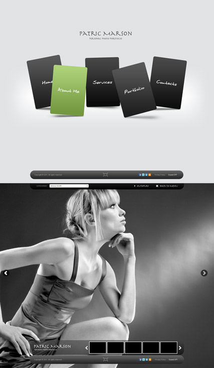 Personal folio, Dynamic Photo Gallery Admin flash template