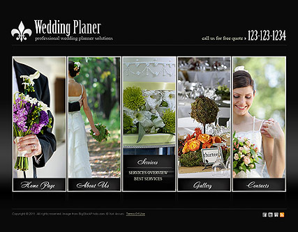 Wedding Planner, HTML5 template