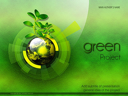 Green project, Microsoft PowerPoint template