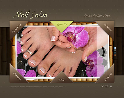 Nail Salon, Easy flash template