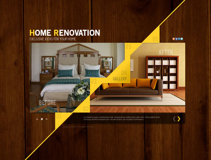 Home Renovation, Dynamic Video Gallery Admin flash template