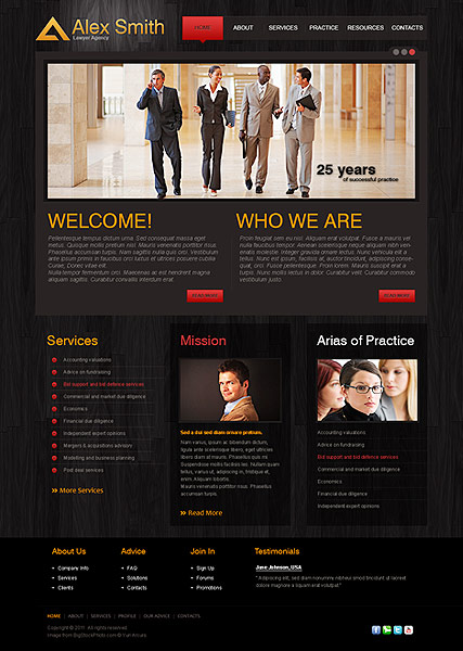 Lawyer Agency, HTML template