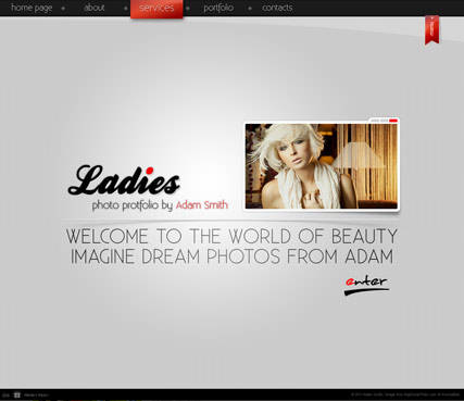 Ladies folio, Dynamic Photo Gallery Admin flash template
